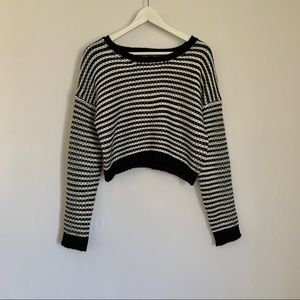 Forever 21 Black & White Striped Knit Sweater
